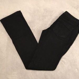 EXPRESS 6 LONG Barely Boot Low Rise Black Jeans